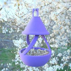 3D print model bird feeder and watering trough set, 3d-fabric-jean-pierre