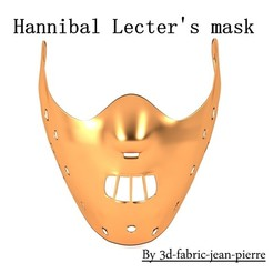 Download OBJ file Hannibal Lecter Mask • Model to 3D print, 3d-fabric-jean-pierre