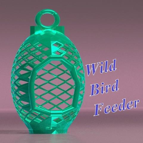 Scene_2_nichoir1_carre.jpg Download STL file Wild bird feeder • 3D print model, 3d-fabric-jean-pierre