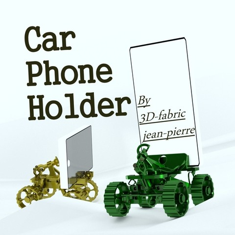 3d-fabric-jean-pierre_carphoneholder_render_Title_car.jpg Download STL file Car Phone Holder • Template to 3D print, 3d-fabric-jean-pierre