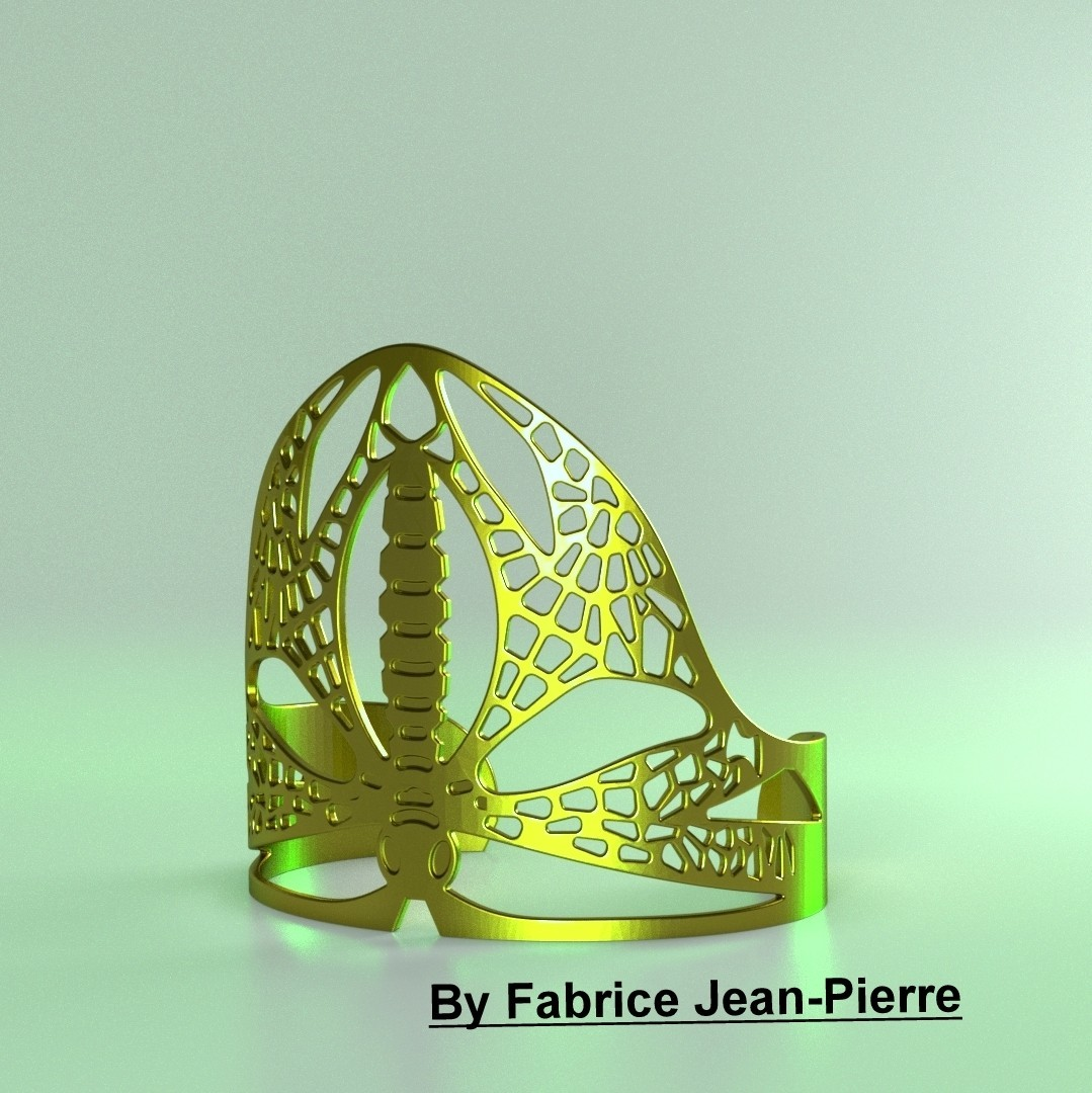 Dragonflybangl_carr_titl.jpg Download STL file Dragonfly Cuff • Template to 3D print, 3d-fabric-jean-pierre