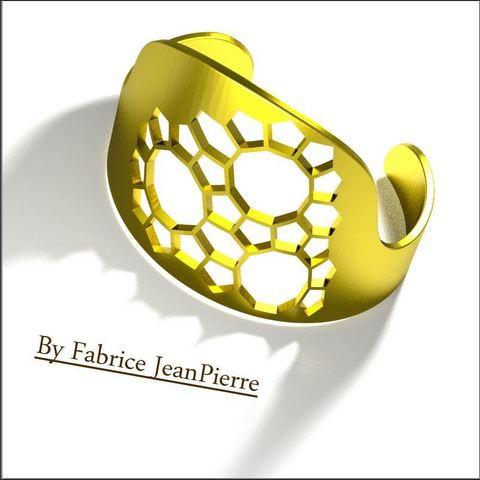 STL files Pentagon Cuff, 3d-fabric-jean-pierre