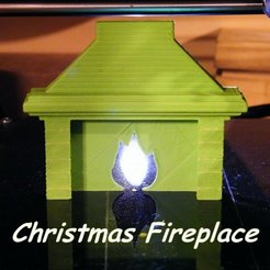 Fichier imprimante 3D Christmas fireplace, 3d-fabric-jean-pierre