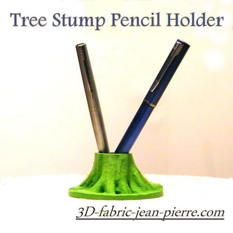 STL tree stump Pencil Holder, 3d-fabric-jean-pierre