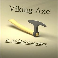 3d-fabric-jean-pierre_viking_axe_render_Lt_title.jpg Download STL file Viking Ax • 3D printable template, 3d-fabric-jean-pierre