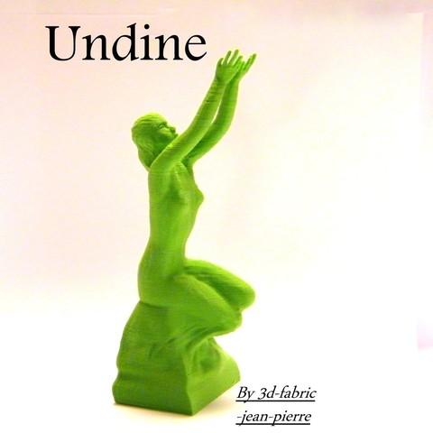 3D printing model undine, 3d-fabric-jean-pierre