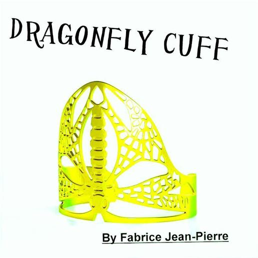 3d-fabric-jean-pierre_dragonfly_cuff_render_title_Lt_carr.jpg Download STL file Dragonfly Cuff • Template to 3D print, 3d-fabric-jean-pierre