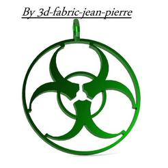Biohazard Pendant 3D model, 3d-fabric-jean-pierre