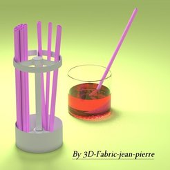 3D printer models straw holder, 3d-fabric-jean-pierre