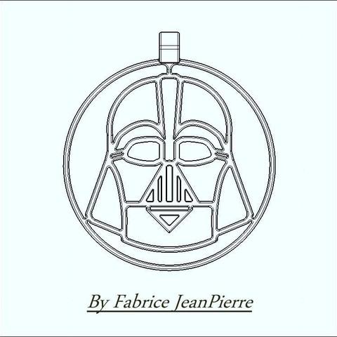 title_Lt_medaillon_vador.jpg Download STL file Unique Xmas DARTH VADER • 3D printing object, 3d-fabric-jean-pierre