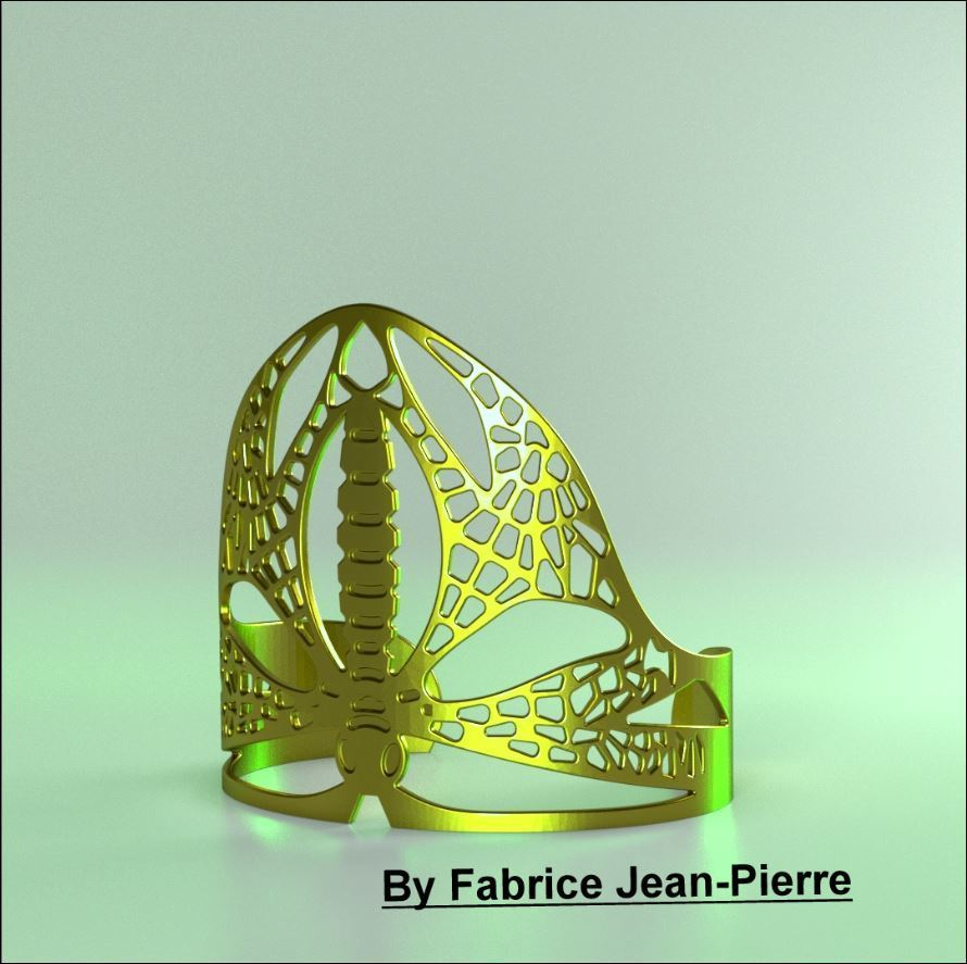 Dragonflybangl_Lt_carr_titl.jpg Download STL file Dragonfly Cuff • Template to 3D print, 3d-fabric-jean-pierre
