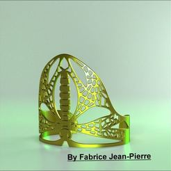 3D printer file Dragonfly Cuff, 3d-fabric-jean-pierre