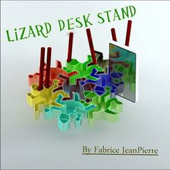 Download 3D printer designs Lizard Desk Stand, 3d-fabric-jean-pierre