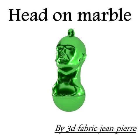 3d printer model Head on Marble, 3d-fabric-jean-pierre