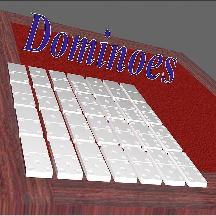 scene_dominoes_title3.jpg Download STL file Dominoes • 3D print template, 3d-fabric-jean-pierre