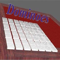 scene_dominoes_title3.jpg Download STL file Dominoes • 3D print template, 3d-fabric-jean-pierre
