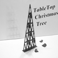 STL file Tabletop Christmas tree, 3d-fabric-jean-pierre