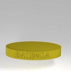 Archivos STL Bazinga Sheldon Cooper base, 3d-fabric-jean-pierre
