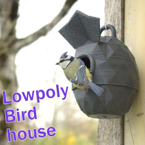 Download STL file Lowpoly Bird house strong • 3D printer object, 3d-fabric-jean-pierre