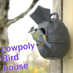 Download 3D print files Lowpoly Bird house strong, 3d-fabric-jean-pierre