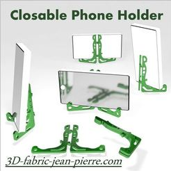 fichier 3d Closable Phone Holder, 3d-fabric-jean-pierre