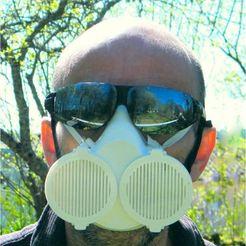 Descargar archivos STL Máscara Covid de doble protección, 3d-fabric-jean-pierre