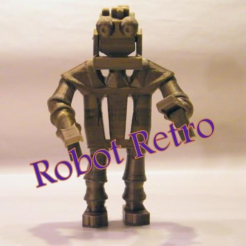 Retrobot_title_carr.jpg Download STL file Robot Retro • Template to 3D print, 3d-fabric-jean-pierre