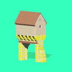 STL pigeonnier-porche du Tissandié, 3d-fabric-jean-pierre