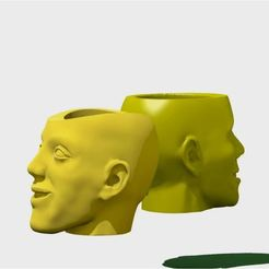 Capture_two_head_1.JPG Download STL file Couple of pot heads • 3D printer model, 3d-fabric-jean-pierre