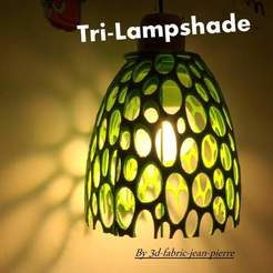 lampshade-vue-alume-title_Lt.jpg Download STL file Tri-Lampshade • Object to 3D print, 3d-fabric-jean-pierre
