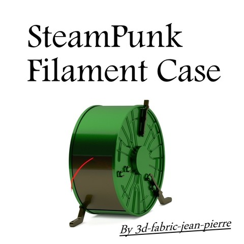 3d-fabric-jean-pierre_render_filcase_title_carr_1.jpg Download STL file Steampunk filament case • 3D printer object, 3d-fabric-jean-pierre