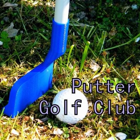 Putter_title_carre.jpg Download STL file Putter golf club • Template to 3D print, 3d-fabric-jean-pierre