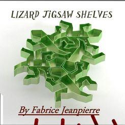 Objet 3D Lizard jigsaw shelves, 3d-fabric-jean-pierre
