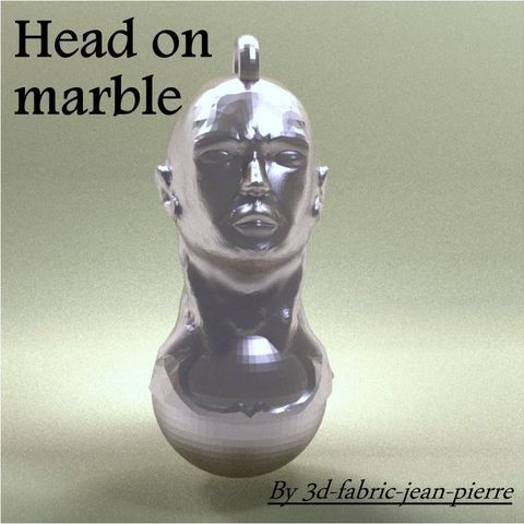 3d-fabric-jean-pierre_HeadonMarble_title_carr_Lt.jpg Download OBJ file Head on Marble • 3D print template, 3d-fabric-jean-pierre