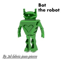 Download 3D printing templates Bot the robot, 3d-fabric-jean-pierre