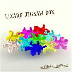 3D printer files LIZARD JIGSAW BOX, 3d-fabric-jean-pierre