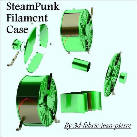 3d-fabric-jean-pierre_render_filcase_title_carr_Lt.jpg Download STL file Steampunk filament case • 3D printer object, 3d-fabric-jean-pierre