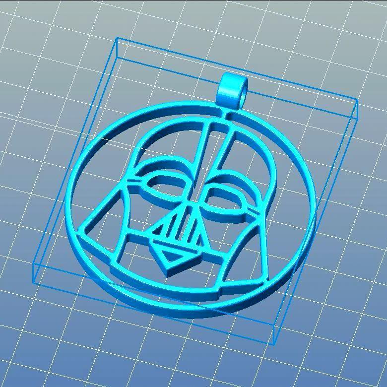 Vue_Lt_repet_car_medaillon_vador.jpg Download STL file Unique Xmas DARTH VADER • 3D printing object, 3d-fabric-jean-pierre