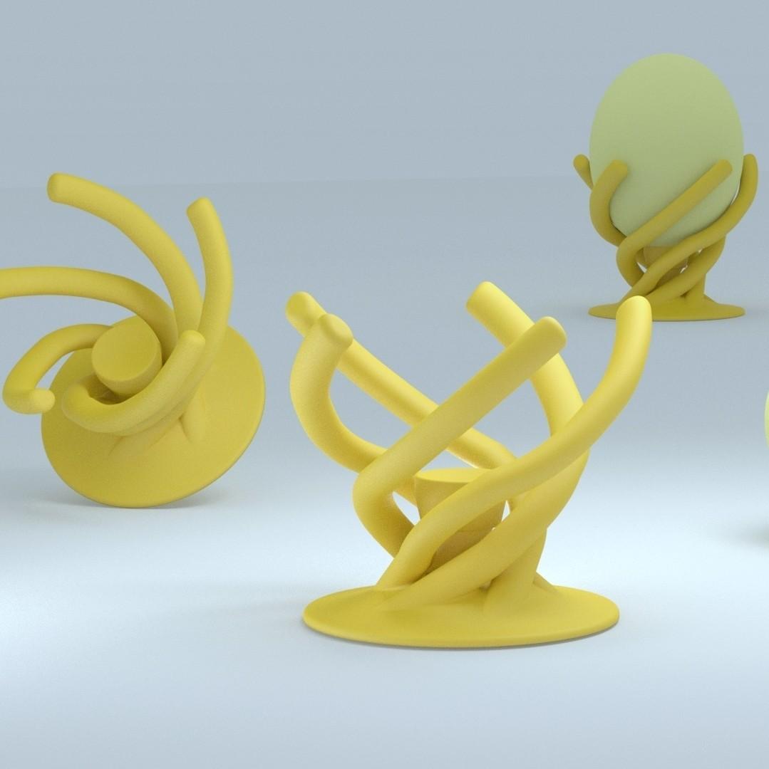 Scene_coquetier_car.jpg Download STL file Bioinspired Egg cup • 3D printer template, 3d-fabric-jean-pierre
