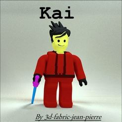 Download 3D printer templates Ninjago Kai, 3d-fabric-jean-pierre