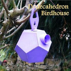 3d-fabric-jean-pierre_dodecahedron_birdhouse_view_title_carr_Lt.jpg Download STL file DODECAHEDRON BIRDHOUSE • 3D printable template, 3d-fabric-jean-pierre