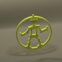 Download 3D printer model Robot locket, 3d-fabric-jean-pierre