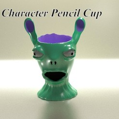 Download 3D printer model Character pencil cup holder, 3d-fabric-jean-pierre