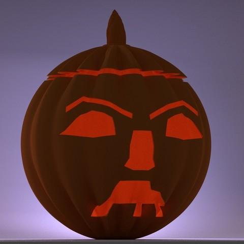 Download STL file Halloween afraid pumpkin • 3D printable object, 3d-fabric-jean-pierre