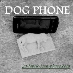 stl Dog phone, 3d-fabric-jean-pierre