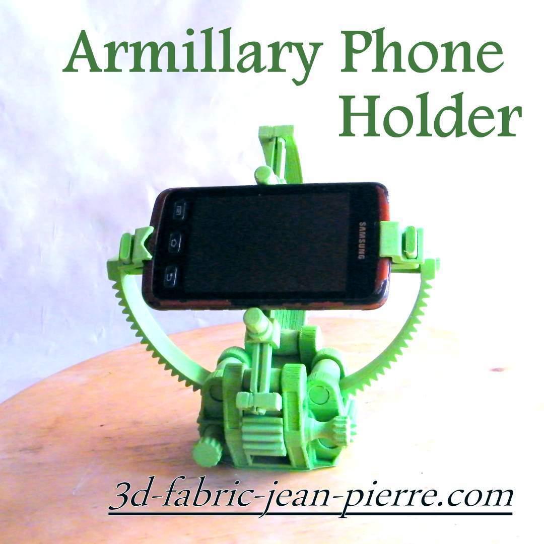 Armillary_phone_45_Title_Lt.jpg Download STL file Armillary phone Holder • Design to 3D print, 3d-fabric-jean-pierre