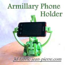fichier 3d Armillary phone Holder, 3d-fabric-jean-pierre