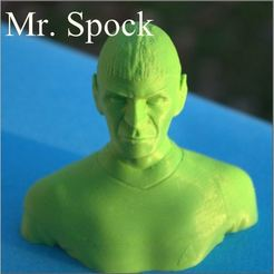 STL files Bust of Mr. Spock, 3d-fabric-jean-pierre