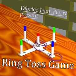 Download 3D printer designs Ring Toss Game, 3d-fabric-jean-pierre