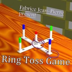 Descargar STL Ring Toss Juego, 3d-fabric-jean-pierre